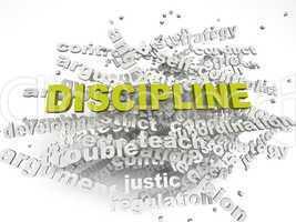 3d imagen Discipline issues concept word cloud background