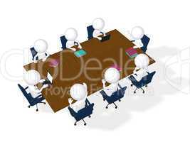 3d imagen Business meeting. Brainstorming concept