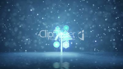 growing christmas tree holiday symbol loopable