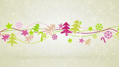 christmas symbols loopable holiday background