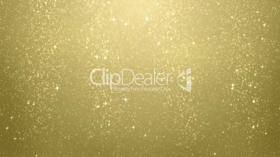 gold glitter particles falling seamless loop
