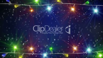 holiday colorful christmas lamps loopable background