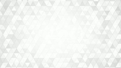 geometric pattern of white triangles loop
