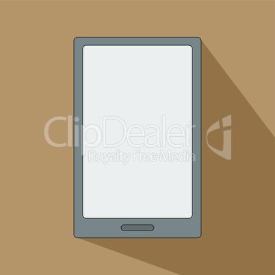 Tablet eReader for books smartphone icon flat design