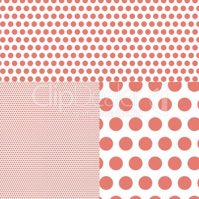 Polish polka dot abstract background