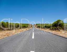 Asphalt Road on Hill