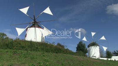 Portugiesische und griechische Windmühle