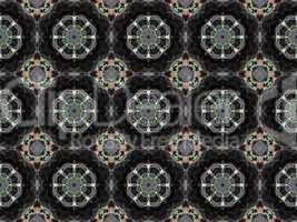Ethnic pattern. Abstract kaleidoscope  fabric design.