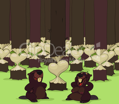 Valentine's Day of beavers