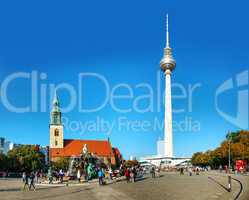 Alexanderplatz square in Berlin, Germany