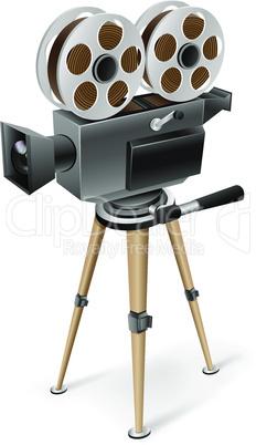 retro cinema camera