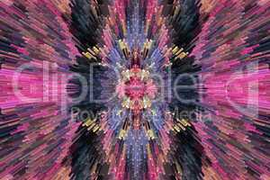 very bright and motley abstraction