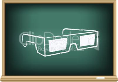 board cinema 3D glasses