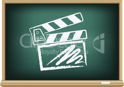 board cinema clapper board