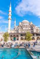 ISTANBUL, TURKEY - SEP 19: Yeni Cami, The New Mosque in Istanbul