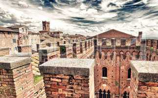 Siena, Italy. Wonderful medieval architectural detail