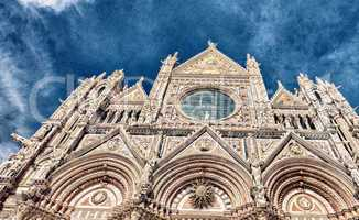 Siena, Italy. Wonderful view of Cathedral - Duomo