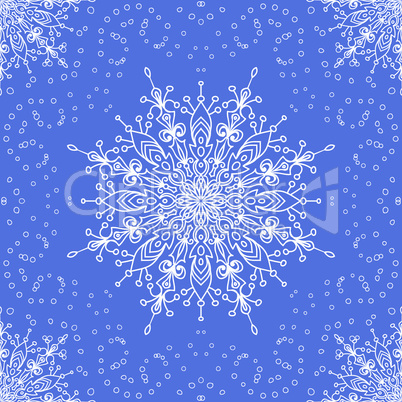 seamless with winter lace snowflake.eps