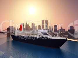 Kreuzfahrtschiff in New York