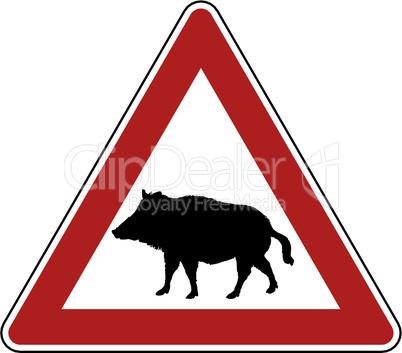 Achtung Wildschwein