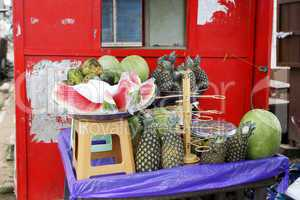 Fruit stand on the roadside
