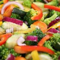 Gemüse kochen Gemüsepfanne Hintergrund