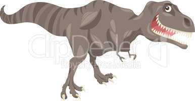 tyrannosaurus dinosaur cartoon illustration