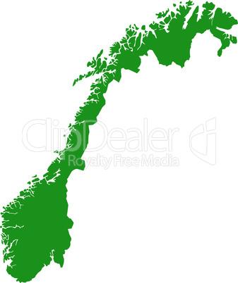 Karte von Norwegen
