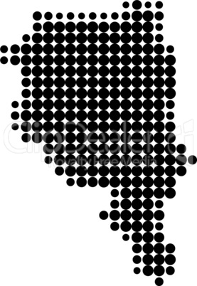 Karte des Tessins