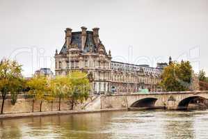 Louvre palace in Paris, France