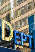NEW YORK CITY - JUNE 9: NYPD sign. The New York City Police Depa