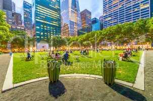 Bryant Park summer lights in Manhattan - New York City