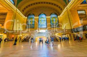 NEW YORK, JUNE 8: commuters and tourists in the grand central st