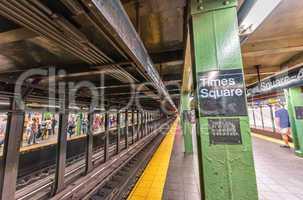Times Square subway station interior, New York City