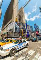 NEW YORK, USA - JUNE 9, 2013: NYPD highway patrol car