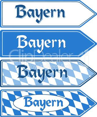 Richtungsschild Bayern