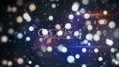 glitter bokeh flying festive loopable abstract bakground