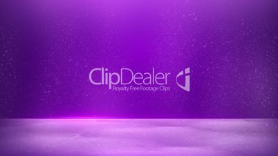 glitter dust on purple background seamless loop