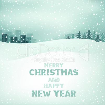 Christmas winter day