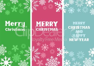 Multicolored Christmas Card