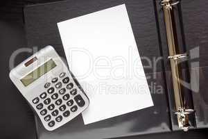 Sheet of paper in a folder