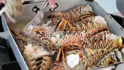 Cooking of lobsters