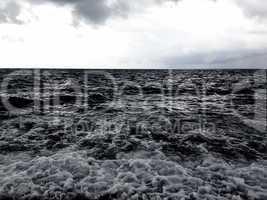 Rushing sea