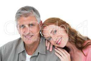 Casual couple smiling at camera