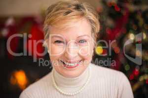 Portrait of a smiling active seniors at christmas