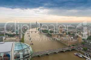 LONDON - SEPTEMBER 28, 2013: Tourists enjoy the view over the ci
