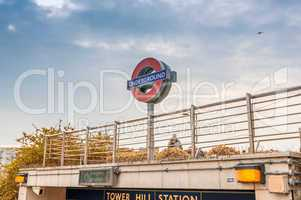 LONDON - SEPTEMBER 28, 2013: Subway sign on the street. London s