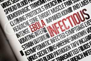 Digitally generated ebola word cluster