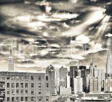 Amazing New York Skyline on a beautiful sunny day