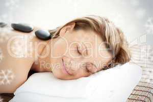 Beautiful woman receiving a spa treatment